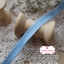 ริบบิ้นผ้าแถบ สีฟ้า แต่งเส้นสีขาว กว้าง 1 ซ.ม. แบ่งขายเป็นหลา thumbnail 3
