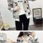 เสื้อกันหนาวแฟชั่น คอกลม ขนาดกำลังดี สกรีนลายสวยๆ น่าใส่มากค่ะ thumbnail 10