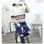 เสื้อยืดแฟชั่นแขน 3 ส่วน เพิ่มสีสันด้วยคาดสีตัดลายขวาง และเล่นริ้วให้พริ้วไหว thumbnail 8