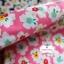 ผ้าคอตตอนไทย 100% 1/4 ม.(50x55ซม.) พื้นสีชมพู ลายดอกไม้สีขาว thumbnail 2