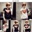 เสื้อยืดแฟชั่นสำหรับสาวๆ ผ้านิ่ม มีลายให้เลือกมากมาย และหลายขนาด SET3 thumbnail 6