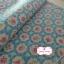 ผ้าคอตตอนลินินญี่ปุ่น 100% 1/4 ม.(50x55ซม.) พื้นสีฟ้า ลายดอกไม้ thumbnail 1