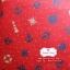 ผ้าคอตตอนไทย 100% 1/4 ม.(50x55ซม.) พื้นสีแดง ลายสมอเรือ thumbnail 1