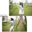 Tokyo pop splicing denim hundred เดรสสั้นมีปกผ้าชิฟฟ่อน เก๋ด้วยชายเสื้อผูกโบว์คาดเอว thumbnail 7