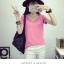 เสื้อยืดคอวีสีสันสวยๆ ใส่ได้ทุกยุค ทุกสมัยแฟชั่น มีให้เลือกสีกันอย่างจุใจ thumbnail 31