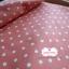 ผ้าคอตตอนลินิน 1/4ม.(50x55ซม.) พื้นสีส้มอิฐ ลายจุดสีขาว thumbnail 5