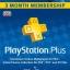 PSN Plus UK 3 month