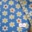 ผ้าคอตตอนลินิน 1/4ม.(50x55ซม.) พื้นสีฟ้า ลายดอกไม้ thumbnail 1