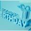 A09 การ์ดป๊อปอัพ Happy BirthDay สีฟ้า thumbnail 4