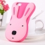 เคสไอโฟน 5/5s/SE เคสซิลิโคน กระต่ายน่ารักสีชมพูพื้นชมพู thumbnail 1