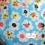 ผ้าคอตตอนไทย 100% 1/4 ม.(50x55ซม.) พื้นสีฟ้า ลายดอกไม้สีขาว thumbnail 1