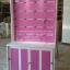 ตู้โชว์ ชั้นเเขวนสินค้า ระเเนงหลังไม้ วินเทจ สีขาว สำหรับร้านค้า thumbnail 3