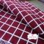 ผ้าคอตตอนลินิน 1/4ม.(50x55ซม.) พื้นสีแดง ลายตารางสีขาว thumbnail 1