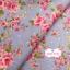 ผ้าคอตตอนไทย 100% 1/4 ม.(50x55ซม.) พื้นสีฟ้า ลายดอกไม้สีชมพู thumbnail 1