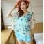 เสื้อชีฟองพิมพ์ลายผีเสื้อสุดสวย สีหวานโทรพาสเทล เย็นสบายตามแบบผ้าชีฟอง thumbnail 17