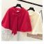 เสื้อคลุมแฟชั่นเกาหลี สีสวย เนื้อนิ่ม แต่งด้วยโบว์ขนาดใหญ่ ดึงดูดทุกสายตา thumbnail 4