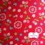 ผ้าคอตตอนไทย 100% 1/4 เมตร (50x55ซม.) พื้นสีแดง ลายสตอเบอร์รี่และดอกไม้ thumbnail 1