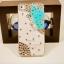 เคสไอโฟน 4/4s (Hard Case) เคสไอโฟนกรอบโปร่งใส ประดับเพชรและผีเสื้อปีกสีฟ้า thumbnail 1