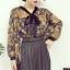 เสื้อแฟชั่นแขนยาว สไตล์สาวเกาหลี ผ้าโปร่ง นิ่ม เบาสบาย น่าสวมใส่รับหน้าร้อนเมืองไทย thumbnail 2