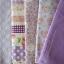 Set 5 ชิ้น : ผ้าคอตตอน100% โทนสีม่วง 4 ลาย และผ้าแคนวาสลายตาราง แต่ละชิ้นขนาด1/8 ม.(50x27.5ซม.) thumbnail 3