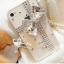 เคสไอโฟน 5/5s/SE (Case Iphone 5/5s/SE) เคสไอโฟนกรอบใส ประดับเพชรผูกโบว์คริสตัล thumbnail 1