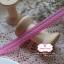 ริบบิ้นผ้าแถบ สีชมพูแต่งลายเส้น กว้าง 1 ซ.ม. แบ่งขายเป็นหลา thumbnail 2