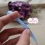 ริบบิ้นผ้า ลายสก๊อตสีฟ้า-ขาว กว้าง 0.5 ซม. thumbnail 3
