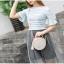 กระเป๋าสตรี แฟชั่นทรงกลม สีสวย หนังทน น่าใช้สอยทุกวัน thumbnail 4