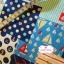 ผ้าคอตตอนไทย 100% 1/4 ม.(50x55ซม.) ลายสมอเรือ โทนสีฟ้า thumbnail 2