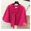 เสื้อคลุมแฟชั่นเกาหลี สีสวย เนื้อนิ่ม แต่งด้วยโบว์ขนาดใหญ่ ดึงดูดทุกสายตา thumbnail 5