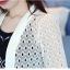 เสื้อคลุมแชั่น สีขาว - ดำ ยอดนิยม ลูกไม้ลายเก๋ๆ ใส่สบาย ระบายอากาศได้ดี thumbnail 25