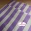ผ้าคอตตอนไทย 100% 1/4 ม.(50x55ซม.) ลายทางโทนสีขาวม่วง กว้าง1ซม. thumbnail 1