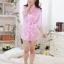 kkm027 ชุดนอน ชุดคลุม เสื้อคลุมสีชมพู ผ้านิ่มลื่น เนื้อผ้าดี พร้อมจีสตริง สวยคะ thumbnail 3
