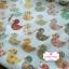 ผ้าคอตตอนเกาหลีแท้ 100% 1/4 เมตร (50x55 cm.) ลายน้องเป็ด พื้นสีขาว thumbnail 2