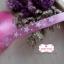 ริบบิ้นผ้าสีชมพู ลายดาวสีขาว กว้าง 1 ซม. thumbnail 1
