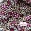 ผ้าคอตตอนไทย 100% 1/4 ม.(50x55ซม.) พื้นสีน้ำตาล ลายสวนดอกไม้ thumbnail 2