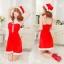 xm012 ชุดแซนตี้ ชุดซานต้าสาว แบบแซก สายเดี่ยว พร้อมหมวก น่ารักคะ thumbnail 1