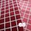ผ้าคอตตอนลินิน 1/4ม.(50x55ซม.) พื้นสีแดง ลายตารางสีขาว thumbnail 3