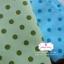 ผ้าคอตตอนลินิน 1/4ม.(50x55ซม.) พื้นสีฟ้าอ่อน ลายจุดสีฟ้าเข้ม thumbnail 2