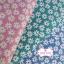 ผ้าคอตตอน 100% 1/4 ม.(50x55ซม.) พื้นสีเขียวลายดอกไม้สีขาว thumbnail 4