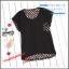 เสื้อยืดแฟชั่นเกาหลี สีพื้นตัดกับลายจุดด้านหลังของตัวเสื้อ กระเป๋าด้านหน้า thumbnail 7