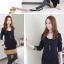 เดรสสั้นเกาหลี สไตล์ทูโทน ผ้ายืดหยุ่น นุ่ม ใส่สบาย สำหรับสาวๆ ที่ชอบผ้านุ่มๆ ชุดนี้ไม่ควรพลาด thumbnail 8