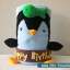 สายผ้าคาด ผ้าห่มม้วนตุ๊กตา วันเกิด (Happy Birthday) สีน้ำตาล ## พร้อมส่งค่ะ ## thumbnail 2