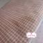 ผ้าทอญี่ปุ่น 1/4ม.(50x55ซม.) ทอลายตารางโทนน้ำตาลส้ม ตัดเส้นสีฟ้า thumbnail 2