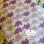 ผ้าคอตตอนไทย 100% 1/4 ม.(50x55ซม.) พื้นสีขาว ลายช้างน้อยสีม่วง thumbnail 2