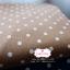 ผ้าคอตตอนลินิน 1/4ม.(50x55ซม.) พื้นสีน้ำตาล ลายจุด thumbnail 2