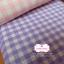 ผ้าคอตตอนลินิน 1/4ม.(50x55ซม.) สีม่วง ลายตาราง thumbnail 3
