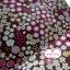 ผ้าคอตตอนไทย 100% 1/4 ม.(50x55ซม.) พื้นสีน้ำตาล ลายสวนดอกไม้ thumbnail 1