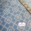 ผ้าคอตตอนไทย 100% 1/4 ม.(50x55ซม.) พื้นสีฟ้า แต่งลายดอกไม้สีขาว thumbnail 2