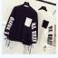 เสื้อกันหนาวแฟชั่น สีทูโทน ตัดกับลายสกรีนแบบเด่น สะดุดตา thumbnail 2